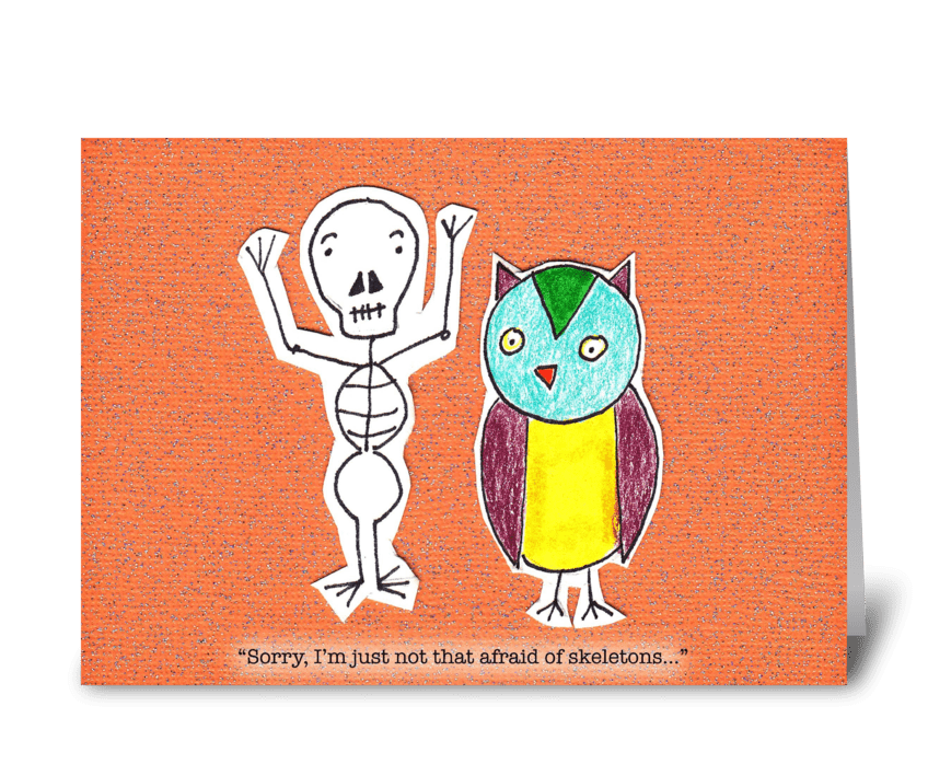 Owl's Not Scared greeting card