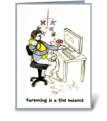 Father's day balance greeting card