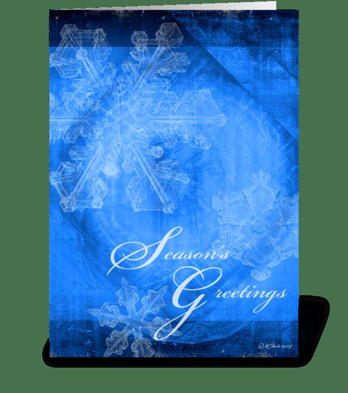 Abstract Snowflakes Christmas Card greeting card