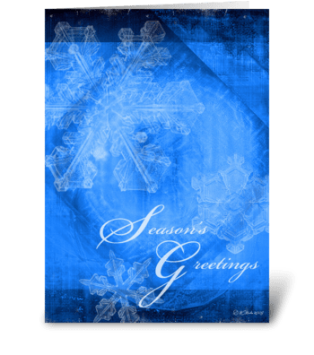 Abstract Snowflakes Christmas Card greeting card