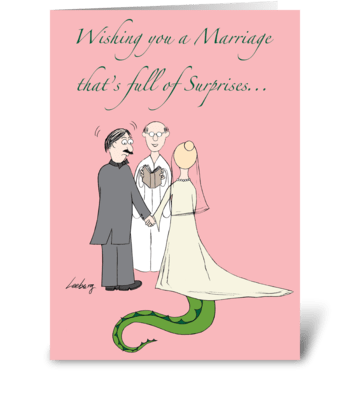 Marriage Full of Surprises greeting card