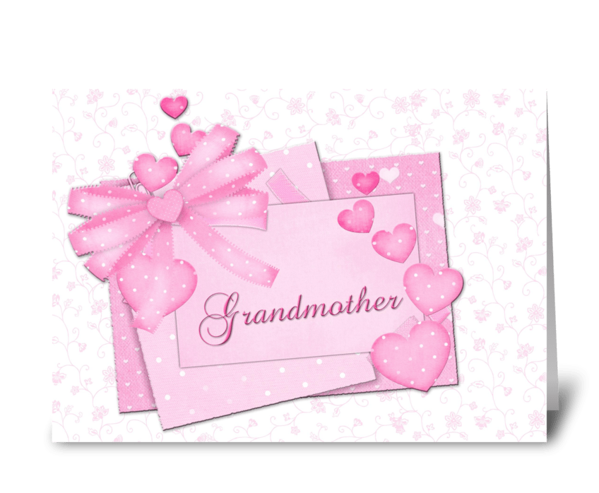 Grandmother mothers day pink hearts send this greeting card grandmother mothers day pink hearts greeting card m4hsunfo