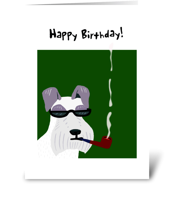 Schnauzer Birthday Card greeting card