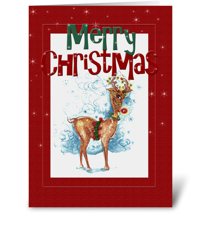 Festive Merry Christmas greeting card
