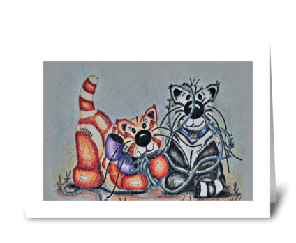 Jabber & Sweets Tangled greeting card
