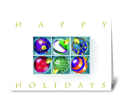 Ornaments greeting card