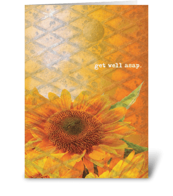 get well asap. greeting card