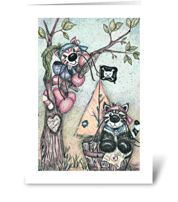 Jabber and Sweets Pirates greeting card