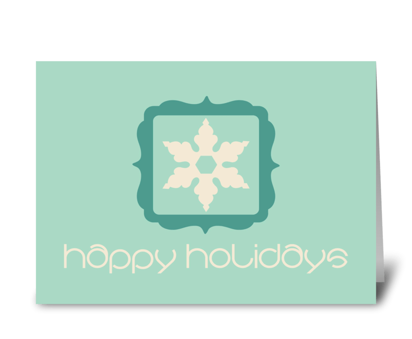 Happy Holiays greeting card
