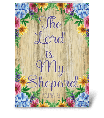 The Lord is my Shephard greeting card