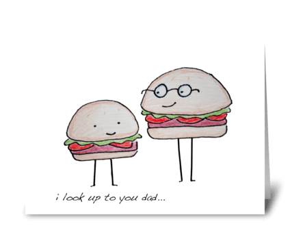 Hamburger Dad greeting card