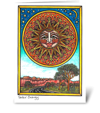 Solar Energy greeting card