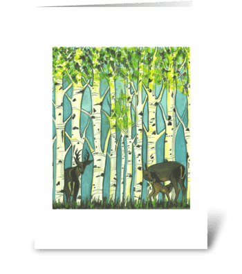 Dereck's Deer greeting card