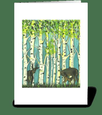 Dereck's Deer greeting card