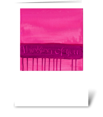 Thinking of You - Pink on Pink greeting card