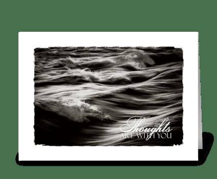 rough ocean sympathy card greeting card