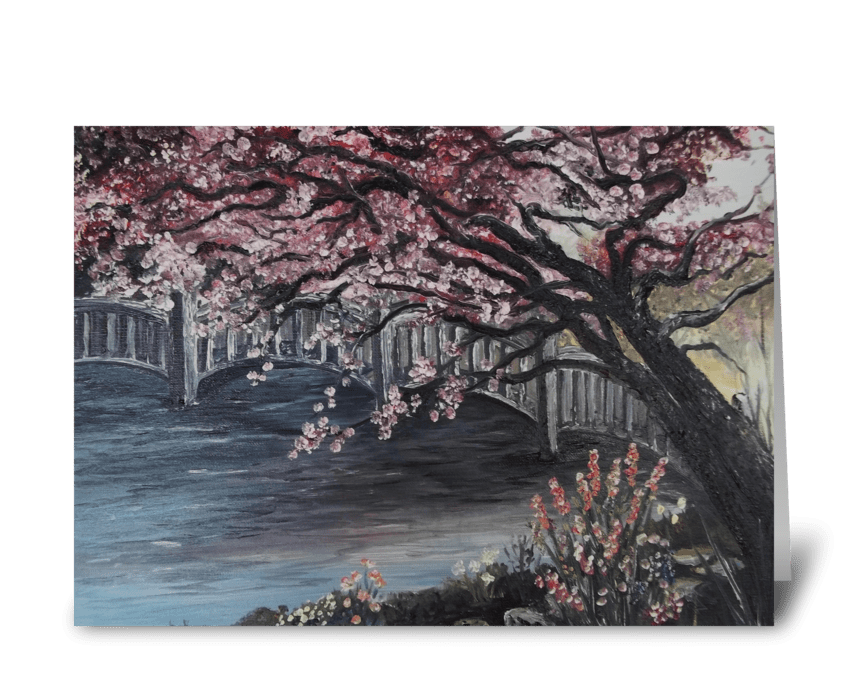 Art Card- Japanese Garden greeting card
