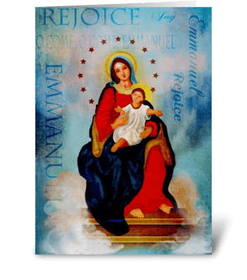 Rejoice Emmanuel  greeting card