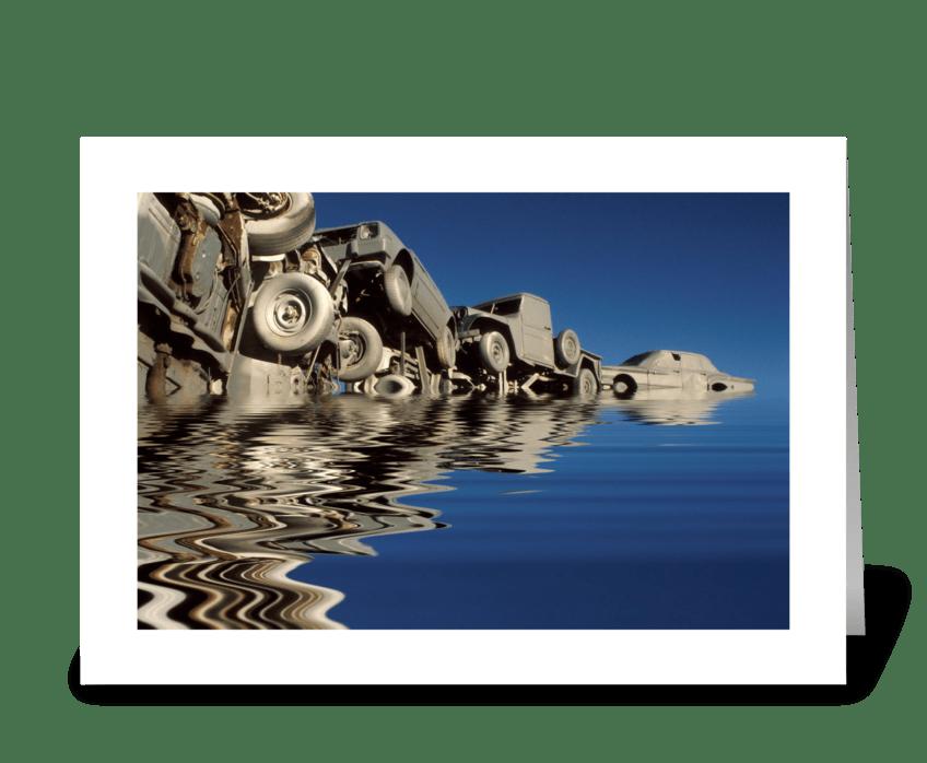 Pileup On Lake Michigan greeting card