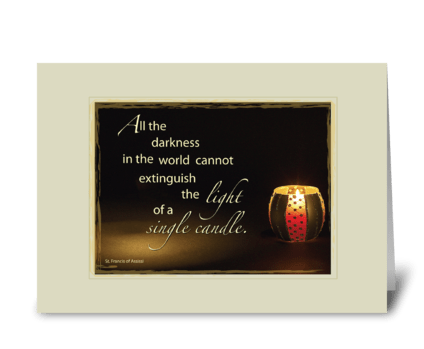 Light of Candle Sympathy greeting card
