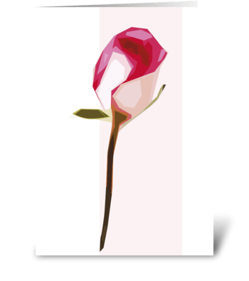 Floral-rose-abtract greeting card