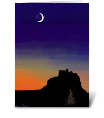 Desert Christmas greeting card