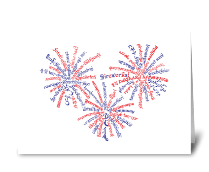 All-American Fireworks! greeting card