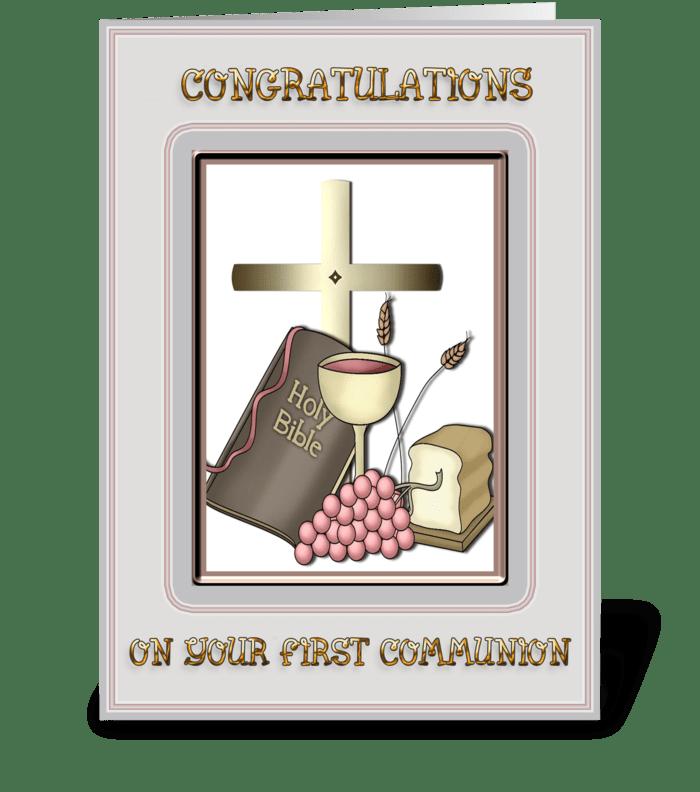 Communion Congratulations  greeting card