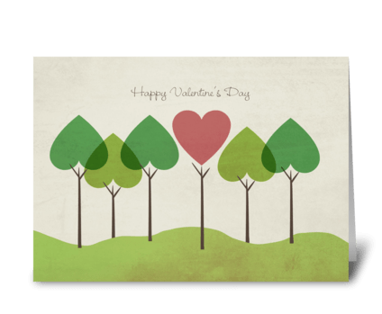Forest of Love greeting card