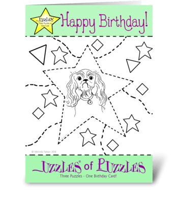 Puppy Birthday Card greeting card