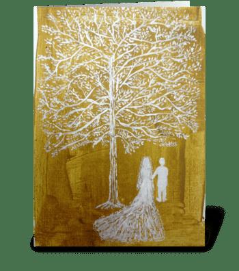 White Wedding greeting card