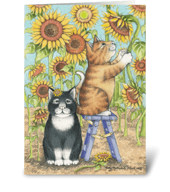 Sunflower Birthday #46 greeting card