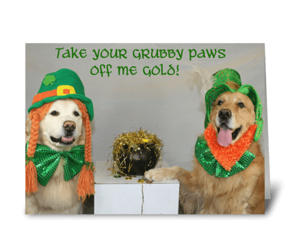 Gold for St. Patty's Day greeting card