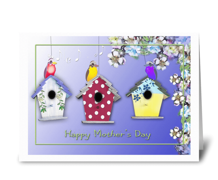 Singing Birds for Mother's Day Greeting greeting card