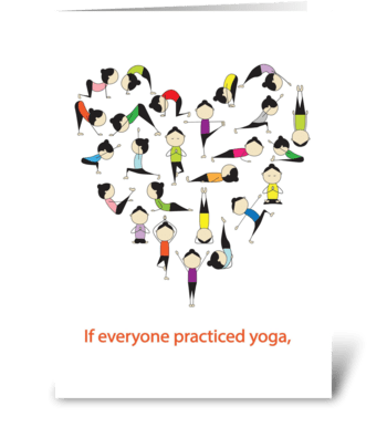 I Heartt Yoga greeting card
