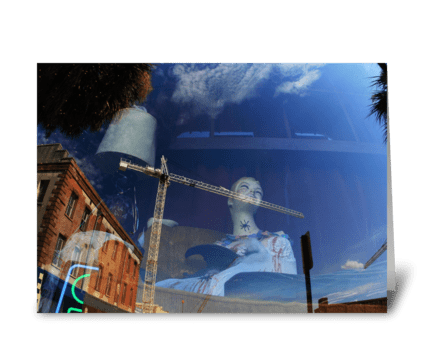 Reflection In Savannah greeting card