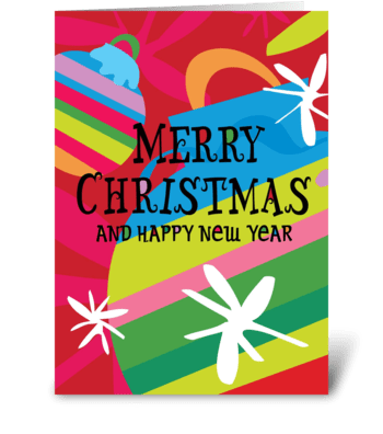 Striped Ornaments greeting card
