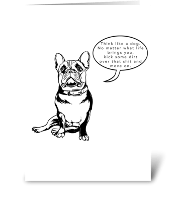 French Bulldog - Kick some shit greeting card