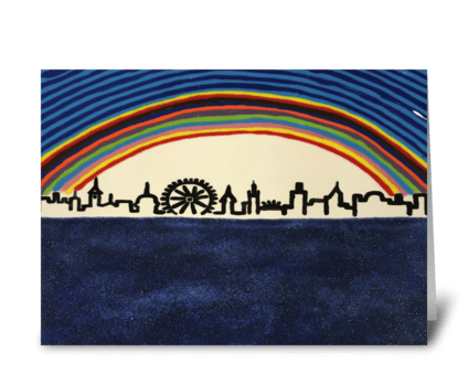 Rainbow City greeting card