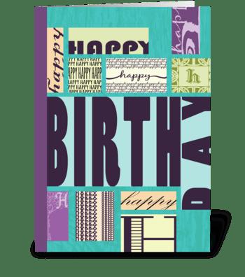Blocks of Type - Happy Birthday  greeting card