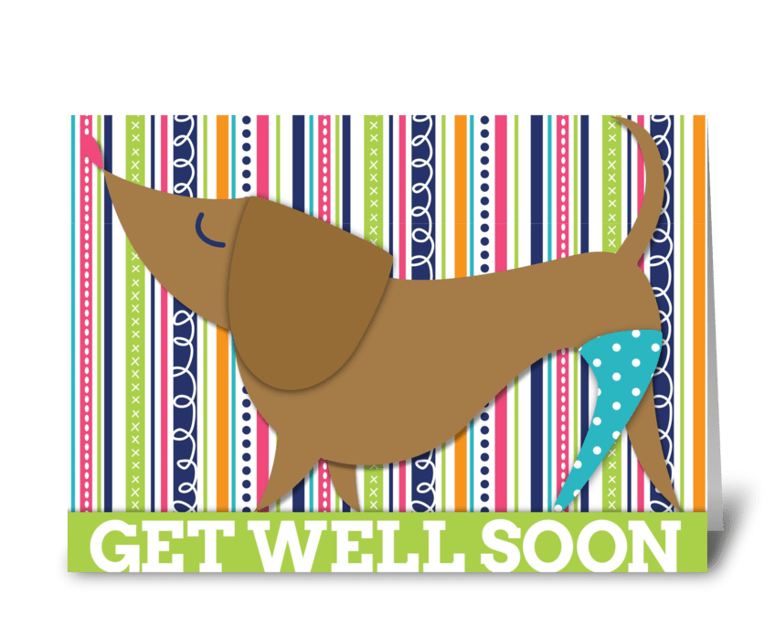 Get Well Soon Puppy greeting card