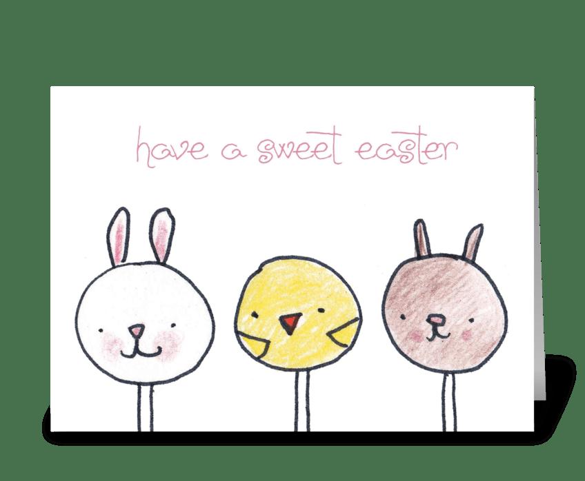Cake Pop Easter greeting card
