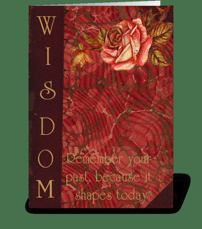 Wisdom Card greeting card
