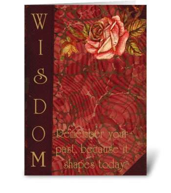 Wisdom Card greeting card