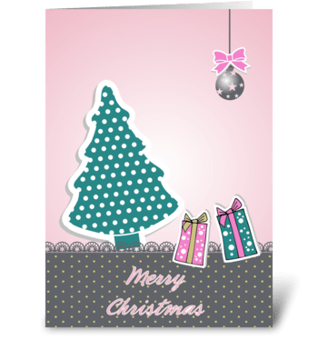Lovely Christmas greeting card
