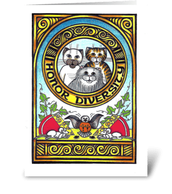 Honor Diversity greeting card