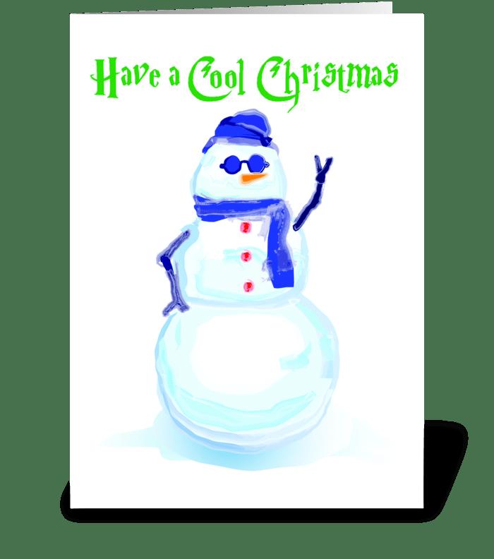 Snowman Cool greeting card
