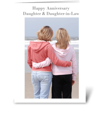 Happy Anniversary Daughter & Daughter-in greeting card