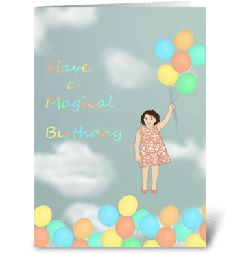 Magical Birthday greeting card