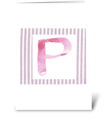P - Baby Girl greeting card